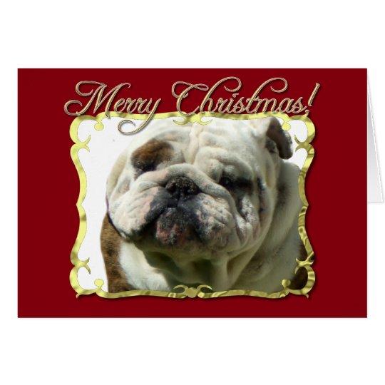 Merry Christmas bulldog Card