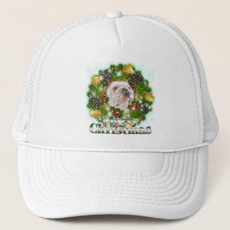 Merry Christmas Bulldog Trucker Hat