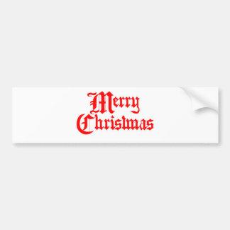 Merry-Christmas Bumper Sticker