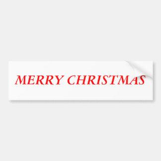 """Merry Christmas"" Car Bumper Sticker"