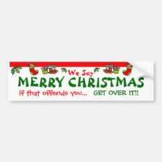 Merry Christmas Bumper Sticker at Zazzle
