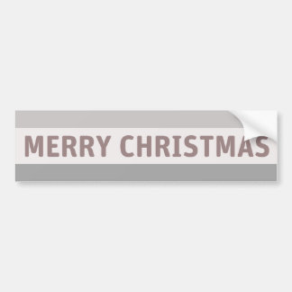 Merry Christmas Car Bumper Sticker