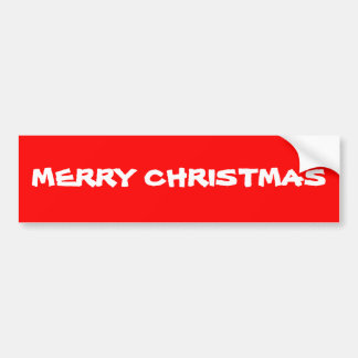 MERRY CHRISTMAS BUMPER STICKERS