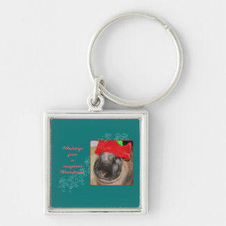 Merry Christmas Bunny Rabbit with Hat - Magical Keychains