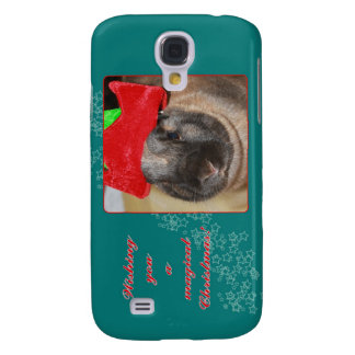 Merry Christmas Bunny Rabbit with Hat - Magical Samsung Galaxy S4 Cover