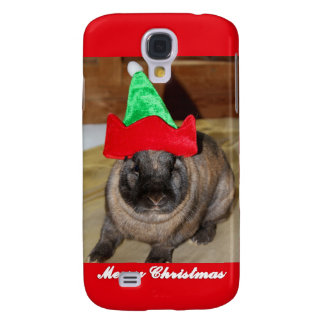 Merry Christmas Bunny With Holiday Rabbit Hat Gift Samsung Galaxy S4 Cases