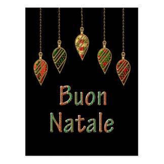 Merry Christmas Buon Natale Italian Postcard