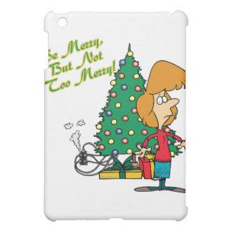 merry christmas but not too merry funny cartoon iPad mini covers