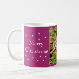 Merry Christmas - Butterfly and Flowers Mugs