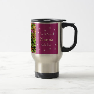 Merry Christmas - Butterfly and Flowers Coffee Mug