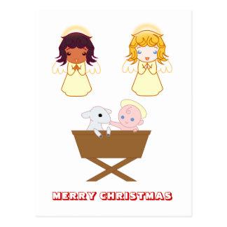 Merry Christmas by Nekoni Nativity scene Post Cards