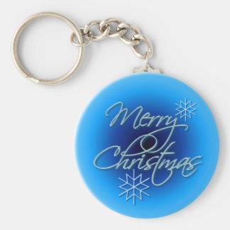 MERRY CHRISTMAS by SHARON SHARPE Basic Round Button Keychain