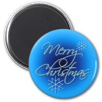 MERRY CHRISTMAS by SHARON SHARPE 2 Inch Round Magnet