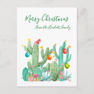 Merry Cactus Cute Cactus Cactus Card Stocking Stuffer Christmas Card Cactus Gift Illustrated Cactus Christmas Card Set