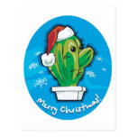 Merry Christmas Cactus Post Card