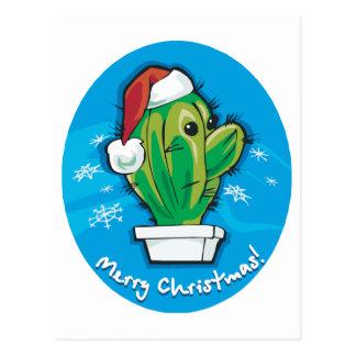 Merry Christmas Cactus Postcard