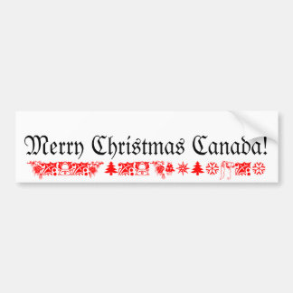 Merry Christmas Canada Bumper Sticker