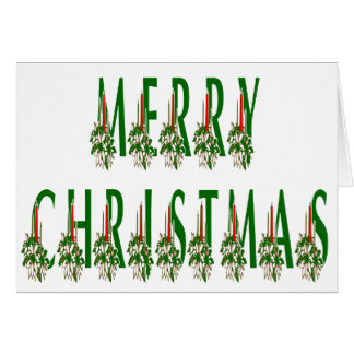 Merry Christmas Candle Font Card