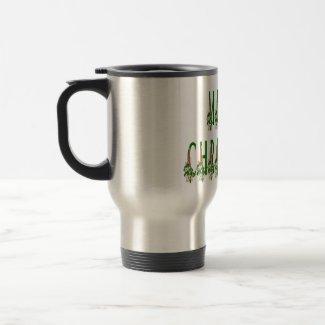 Merry Christmas Candle Font mug
