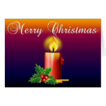 Merry Christmas - Candle Stationery Note Card