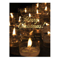 Merry Christmas Candles Romantic Candlelight Postcard