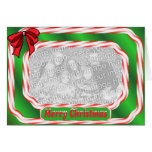 Merry Christmas Candy Cane Border Greeting Cards