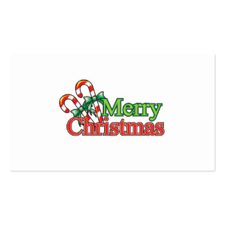 Merry Christmas Candy Cane Business Card
