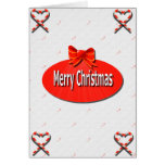 Merry Christmas Candy Cane Card
