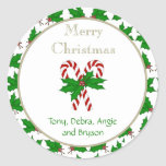 Merry Christmas Candy Cane Collection Stickers