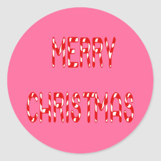 Merry Christmas Candy Cane Font Stickers