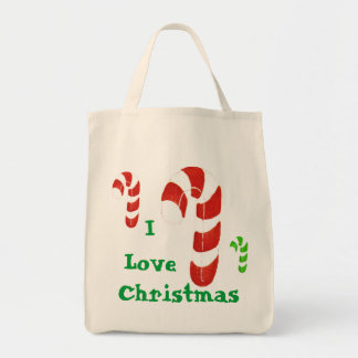 Merry Christmas Candy Cane gift bag