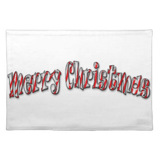 Merry Christmas - Candy Cane Placemats