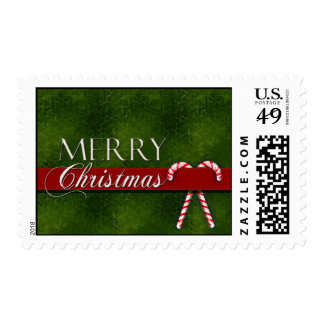 Merry Christmas Candy Cane Postage