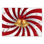 Merry Christmas Candy Canes & Bells Greeting Cards