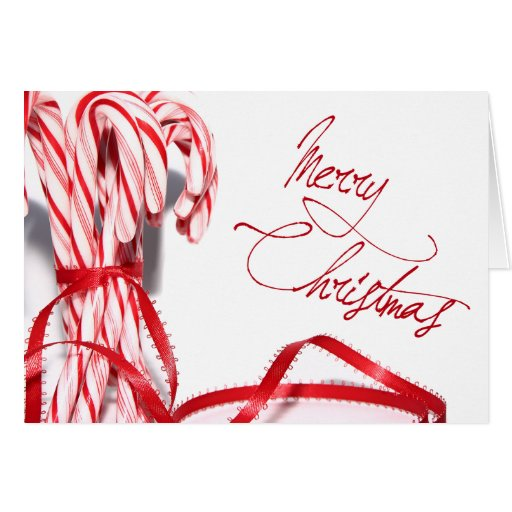 Merry Christmas Candy Canes Card