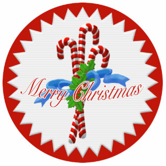 Merry Christmas Candy Canes Ornament