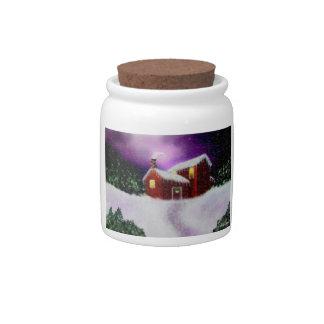 Merry Christmas candy jar