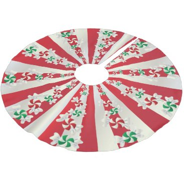 Christmas Themed Merry Christmas Candy Mints Brushed Polyester Tree Skirt