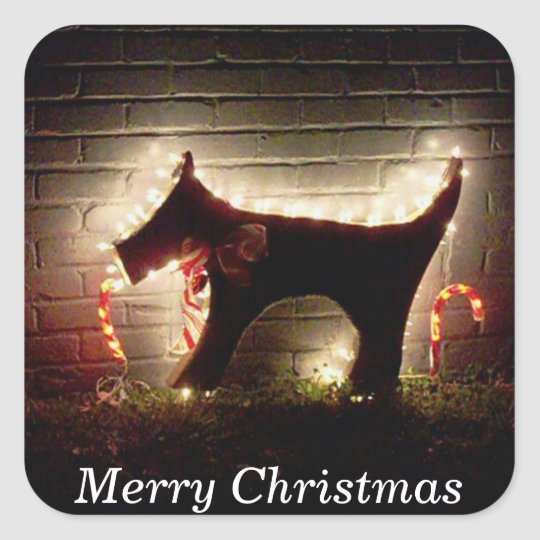 Merry Christmas Canine Christmas Package Sticker