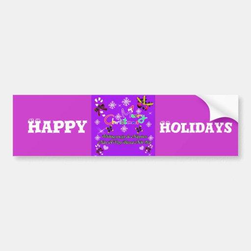 Merry Christmas_ Car Bumper Sticker