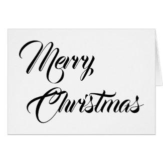 Merry Christmas, card
