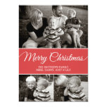 "Merry Christmas Card | Flat | Red 5"" X 7"" Invitation Card"