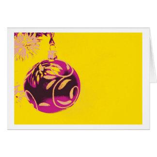Merry Christmas Card Pop Art Tarjeta De Felicitación