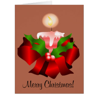 Merry christmas card with cute illustrations