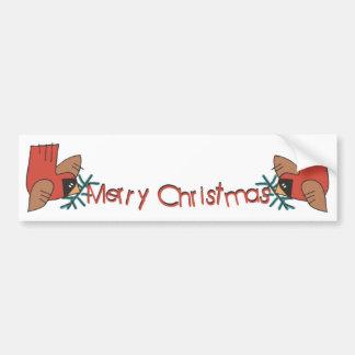 Merry Christmas Cardinals Bumper Sticker