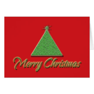 Merry Christmas cards modern red green xmas tree