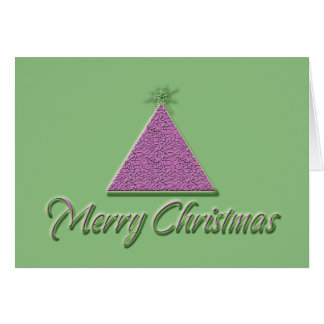 Merry Christmas cards, pink green cool xmas tree Card