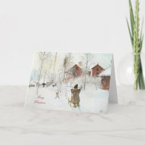 Merry Christmas  Carl Larsson Art Holiday Card