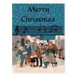 Merry Christmas Carolers PostCard