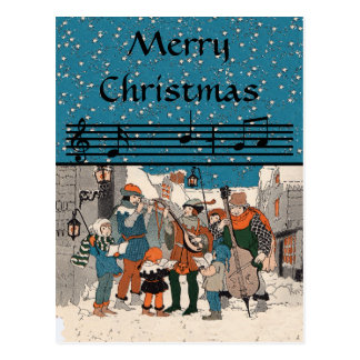 Merry Christmas Carolers PostCard
